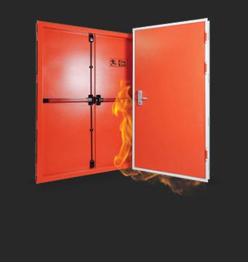 درب مقاوم به حريق یک و نیم لنگه